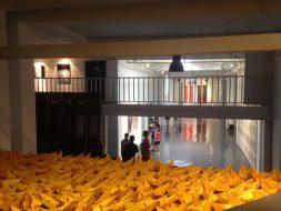 Golden Boats 400 Origami Paper Boats 2017 (C+Space Shunyi China) 2500 x 2500 x 3000cm