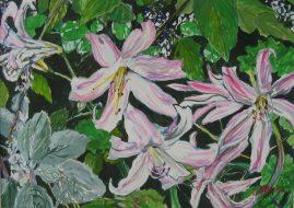 Garden Glimpse Gouache on Board 27 x 37cm $700 AUD Framed plus postage