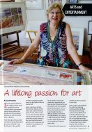 A lifelong passion for art (Louise Foletta, Murrindindi Guide - SUMMER 2019-2020) Page 1 (descreen) 600 PPI