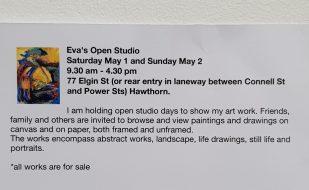Eva's Open studio