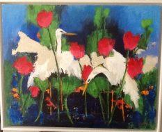 Egrets in Kakadu Acrylic