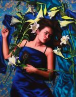 Fleeting Lily Oil on Linen 102 x 80cm