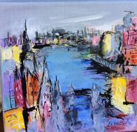 London Acrylic and Ink