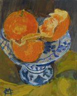 Mandarin still life Gouache on Gesso board 12 x 15cm $160AUD