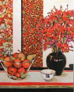 Still Life in Red and Black