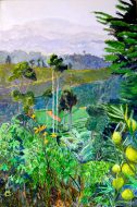 Tea Estate Haputale Acrylic on Canvas 50.5 x 76cm $1450 AUD