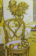 The Chair Still Life in Yellow Watercolour 2017 69 x 44cm