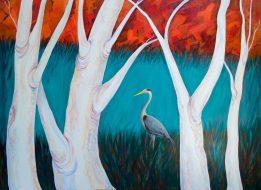 The Heron Acrylic on canvas 76 x 102cm