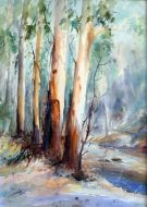 Howqua River Watercolour $1000AUD