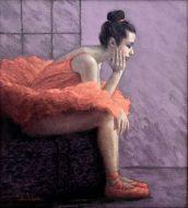 Resting Ballet Dancer, mixed media