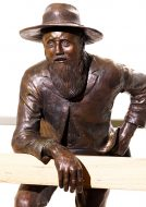 "Tessa Wallis 2000 ""The Man from Ironbark"", Bronze. Ric Wallis photography."
