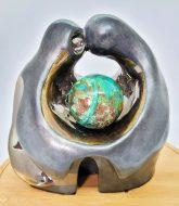 Protecting our Planet - Bronze - 20cm H x 22cm W x 15 cm D